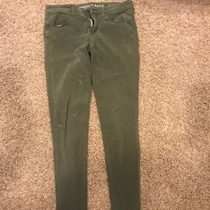 american eagle army green pants